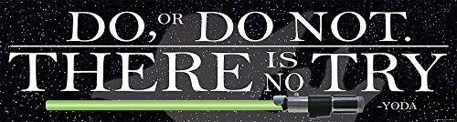 Eureka Star Wars Classroom Banner, Do Or Do Not There Is No Try, 12 x 45""