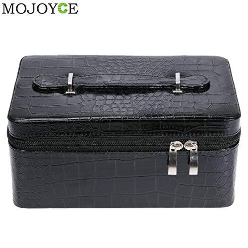 (Alpeft adjustable 24/72 bottles essential oil storage bag double zipper contain carrying case nail polish bag holder bottle storage box)