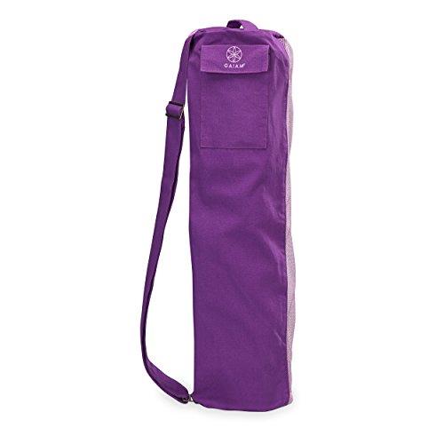 Gaiam Breathable Yoga Mat Bag, Purple