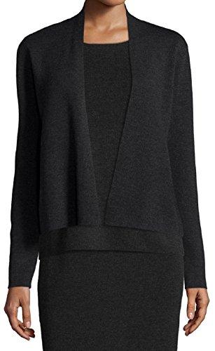 Eileen Fisher Women's Short Rib Knit Merino Wool Cardigan (Medium, (Eileen Fisher Wool Cardigan)