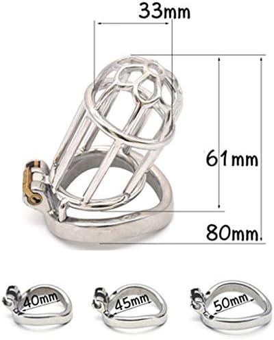 Pllxq 男性男根拘束貞操のデバイスメタルケージ貞操ロック装置SM利息のおもちゃ大人の製品絶妙な、美しいです (Size : 40mm)
