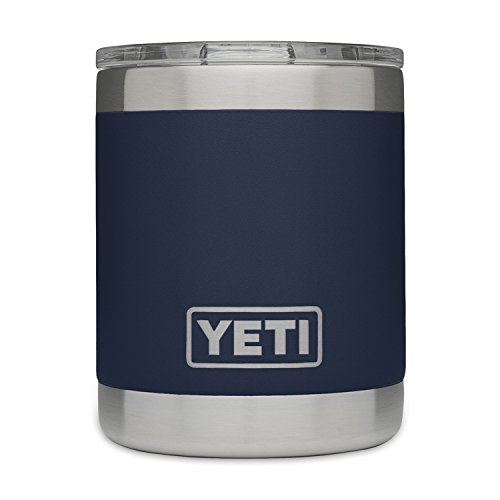 YETI Rambler 10oz Vacuum Insulated Stainless Steel Lowball with Lid, Navy