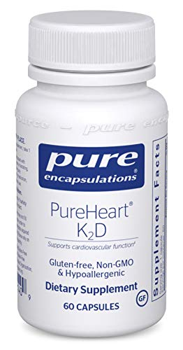 Pure Encapsulations - PureHeart K2D - Hypoallergenic Supplement to Promote Calcium Homeostasis and Cardiovascular Function* - 60 Capsules