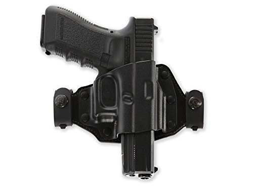 Galco Quick Slide Belt Holster Right Hand Glock 43 Hybrid Kydex and Leather. ()