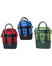 Henselite Bowl Ball Carrier Holdall Short Handle Carry Bag For 2 Bowls Harness