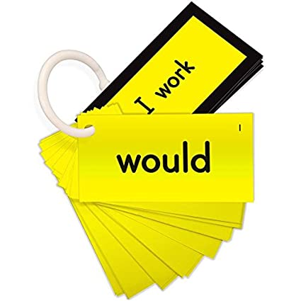 sight word mini flash cards dolch second grade yellow set
