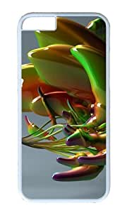 MOKSHOP Adorable Abstract glass art Hard Case Protective Shell Cell Phone Cover For Apple Iphone 6 Plus (5.5 Inch) - PC White