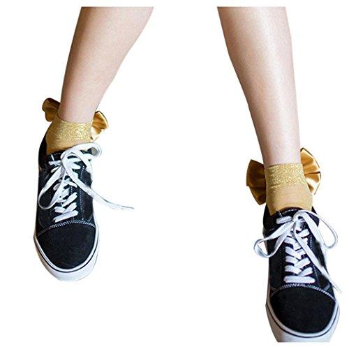 Women Fishnet Socks Inkach Chic Girls Ruffle Fishnet Ankle High Socks Mesh Lace Round Short Fish Net Socks