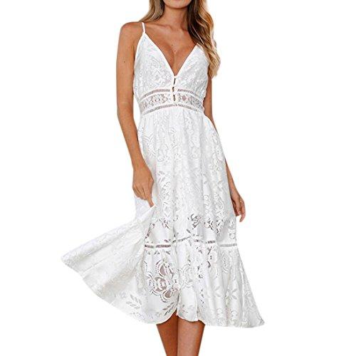 fiesta sin 2018 floral de de vestido de Playa Mini mangas para vestir mujer Vestido noche de Sexy Vestido corto de Blanco de Vestido Verano Mujer Amlaiworld señora pwYq7Y