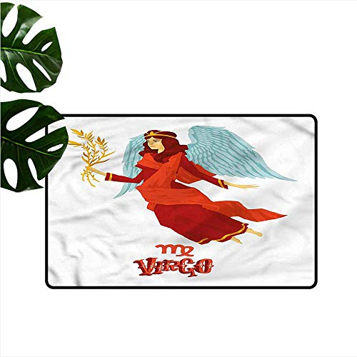 DONEECKL Interior Door mat Virgo Woman with Wings Dress All Season General W20 xL31 (Bunch Of Female Dogs And Garden Tools)