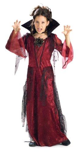 Rubie's Costume Gothic Vampiress Value Costume, One Color, Medium (Girls Dracula Costume)