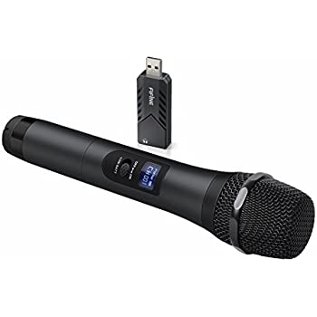 fifine wireless microphone system with portable receiver 1 4 39 39 output selectable. Black Bedroom Furniture Sets. Home Design Ideas