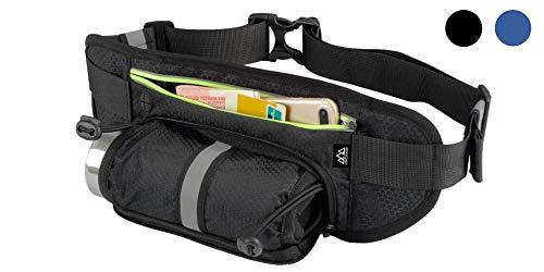 Unchain Cangurera Deportiva negra original para correr viaje ciclismo contra agua celular ergonómica bolsa compatible con...