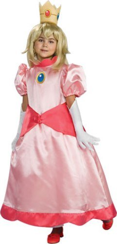 Super Mario Brothers Child's Deluxe Costume, Princess Peach Costume-Small