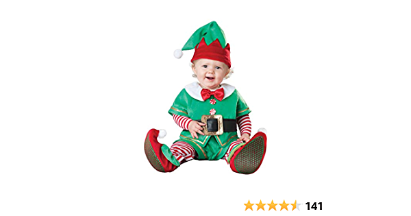 Medium Child Christmas Elf Costume Pk 1