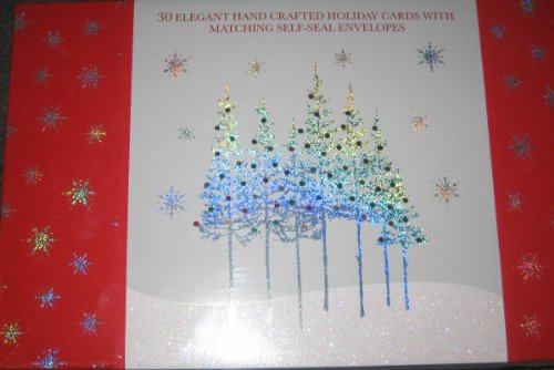 Amazon 30 elegant handmade christmas cards health personal care m4hsunfo