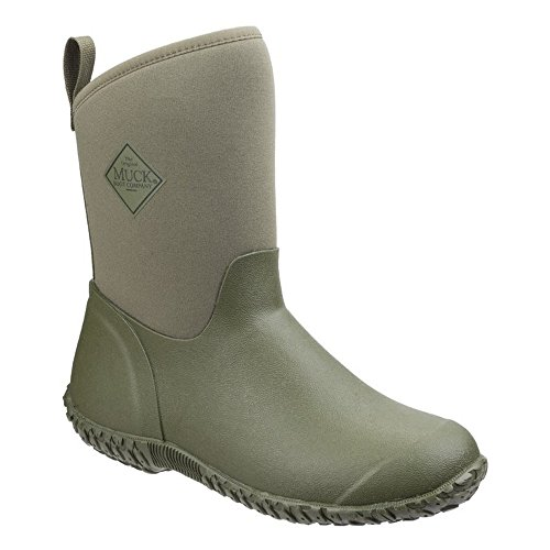 Muck Boot Womens/Ladies Muckster II Mid RHS Print Gardening Shoes (9 US, Moss Green/Tomatoes)