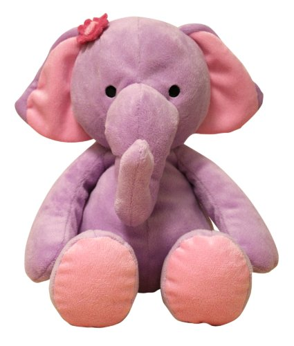 Bedtime Originals Plush Elephant Rosie, (Purple Elephant Stuffed Animal)