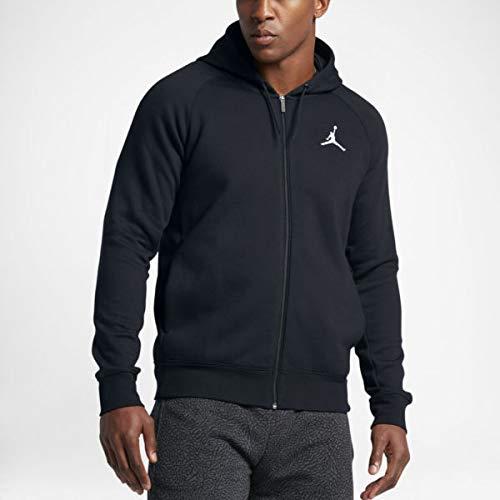Nikeナイキメンズエアージョーダンジップアップパーカー フーディ STANDARD FIT スポーツウェア Air Jordan Flight Men's Basketball Jacket 黒 ブラック AA5583 010 [並行輸入品] B07QHX31GB  L