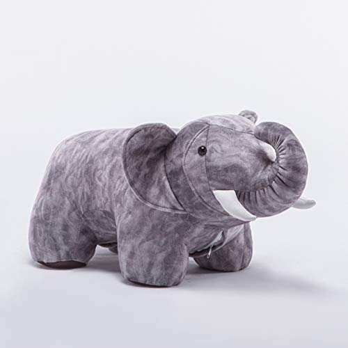LRW Animal Stool Elephant Low Stool Chair Change Shoes Stool Designer Furniture Sofa Stool Creative Animal Footstool Personality Stool (Color : Gray) (Designer Furniture Sofa)