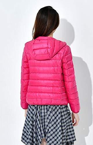 Puffer Red Coat Fall Outwear Women Hooded Rose Howme Ultra Down Packable Light Winter CfYHwqS