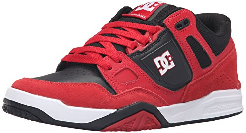 DC Men's Stag 2 Skate Shoe, Red/Black