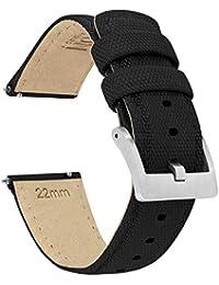 22mm Black - Barton Sailcloth Quick Release - Premium Nylon Weave