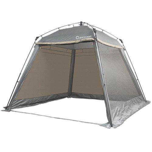 ワンタッチ スクリーンタープ 3m フルクローズ 大型 アウトドア ワンタッチタープ タープテント クイックキャンプ QC-ST300 グレー