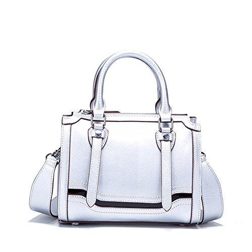 Gwqgz Bolso De Cuero De Alta Calidad Nuevo Bolso De Hombro Bolso Simple Satchel Bag. Gwqgz Leather Bag High Quality New Shoulder Bag Satchel Bag Simple Bag. Rosa Silvery Silvery Pink