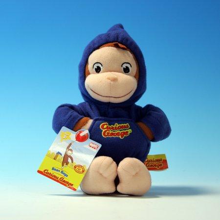 Curious George Bean Bag Pals - Curious George in Hoodie