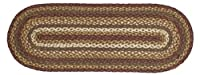"""Victorian Heart """"Tea Cabin"""" Country Braided 36"""" Table Runner"""
