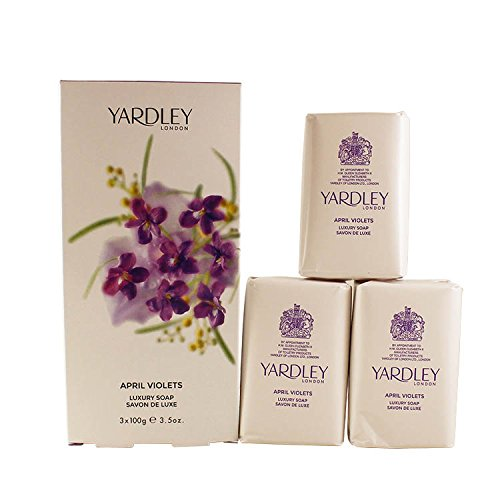 (Yardley of London Perfumed Soap for Women, April Violets, 3.5 Ounce)
