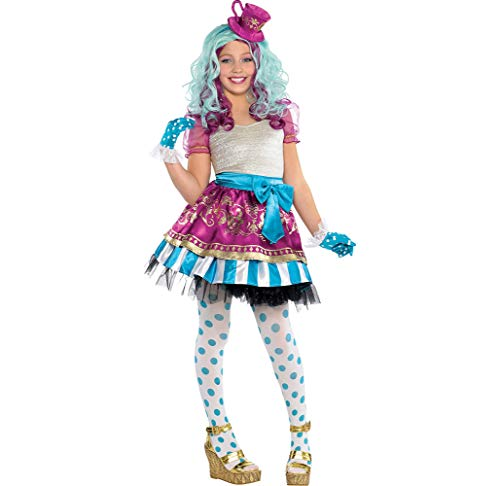 Ever After High Madeline Hatter Halloween Costume Supreme for Girls, Extra Large, with Included Accessories, by Amscan
