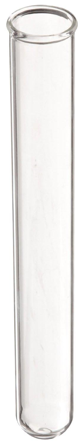 American Educational Borosilicate Glass Round Bottom Test Tube, 10mm OD x 75mm Length (Pack of 72)