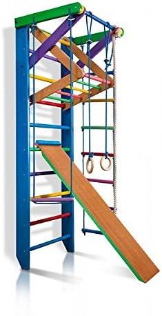 Escalera Sueca Barras de Pared Sport-3-240 - Azul, Gimnasia de los niños en casa, Complejo Deportivo de Gimnasia: Amazon.es: Juguetes y juegos