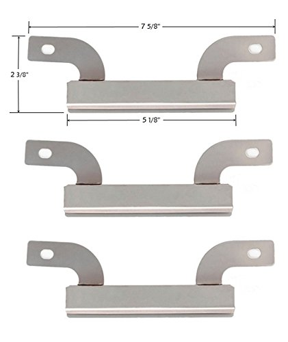 Bigbox Carryover Crossover Tubes for Brinkmann Grill Replacement Parts 810-3660-S, 810-8501-S, 810-8502-S, Stainless Steel Cross over Burners for Backyard Classic, Charmglow Grill (7 5/8 inch, 3-PACK)
