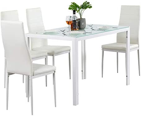 Ammy Dining Table Set Dining Table Dining Room Table Set For Small Spaces Kitchen Table And Chairs For 4 Table With Chairs White