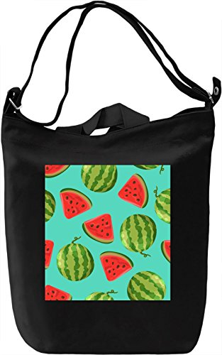 Watermelon Print Borsa Giornaliera Canvas Canvas Day Bag| 100% Premium Cotton Canvas| DTG Printing|