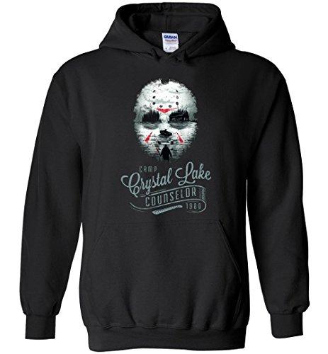 Halloween Jason Voorhees - Camp Crystal Lake Counselor Adult/Youth Hoodie -