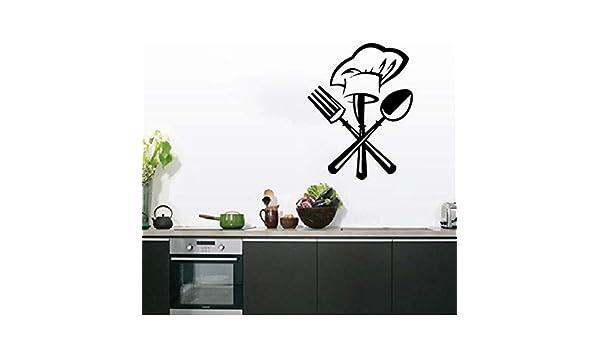 MINGH Cuchillería creativa cuchillo tenedor chef sombrero ...