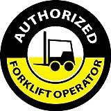 NMC HH63 2'' x 2'' PS Vinyl Label w/Legend: ''Authorized Forklift Operator'', 12 Packs of 25 pcs