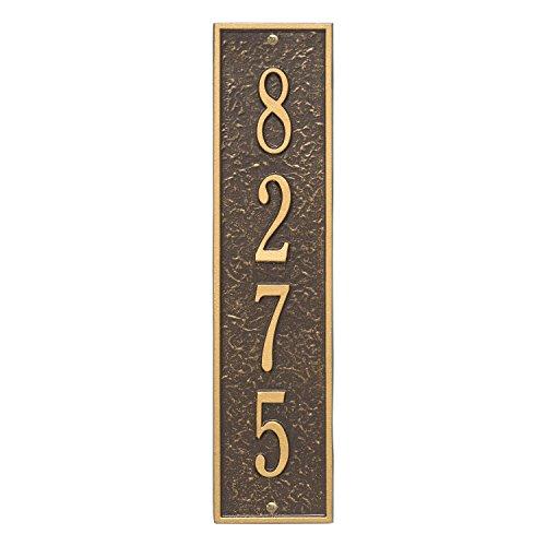 Whitehall Custom 1 Line Delaware Vertical Address Plaque 17.25