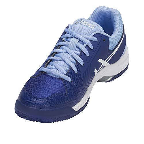 Gel bleu Asics Tennisschuhe blanc flash 5 Damen Dedicate Clay S5xwxBRT
