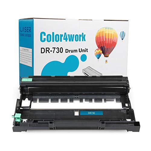 Color4work Compatible Drum Unit Brother DR730 DR-730 1-Pack, use with TN760 TN730 TN770 Toner Cartridge for HL-L2350DW DCP-L2550DW MFC-L2710DW MFC-L2750DW HL-L2395DW HL-L2390DW HL-L2370DW Printer