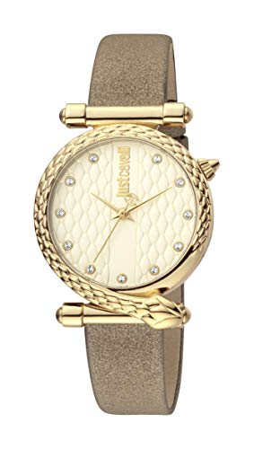 Just Cavalli JC1L075L0035 316L Stainless Steel Mineral Crystal Tang Buckle Watch