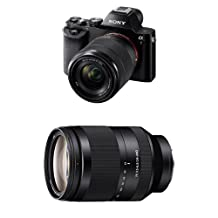 Sony a7 Full-Frame Interchangeable Digital Lens Camera with 28-70mm Lens with Sony SEL24240 FE 24-240 mm f/3.5-6.3 OOS Standard-Zoom Lens for E (NEX) Cameras bundle