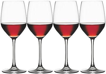 Spiegelau Vino Grande Vino Tinto/Agua, Set de 4, Vaso Vino Tinto, Vaso, Copa de Vino, Cristal, 424 ml, 4510271
