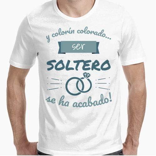 Camiseta - diseño Original - Colorín Colorado, ser Soltero se ha Acabado 2 - L: Amazon.es: Hogar