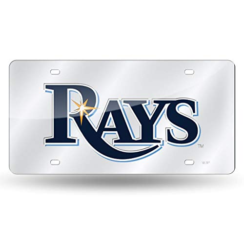 Rico Industries Tampa Bay Rays Laser Cut Silver License Plate