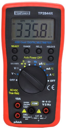 (Tekpower TP2844R True RMS Auto-ranging Digital Multimeter For General Purpose With High Accuracy and Resolution, True-RMS)